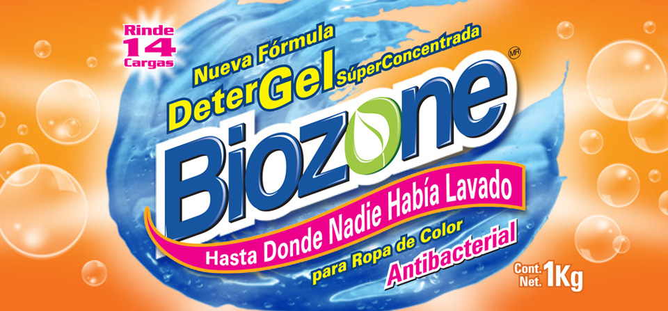 Etiqueta Biozone Detergel